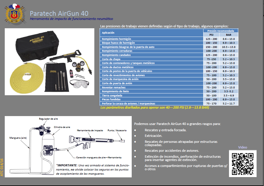 ATC 014 16 Paratech AirGun 40