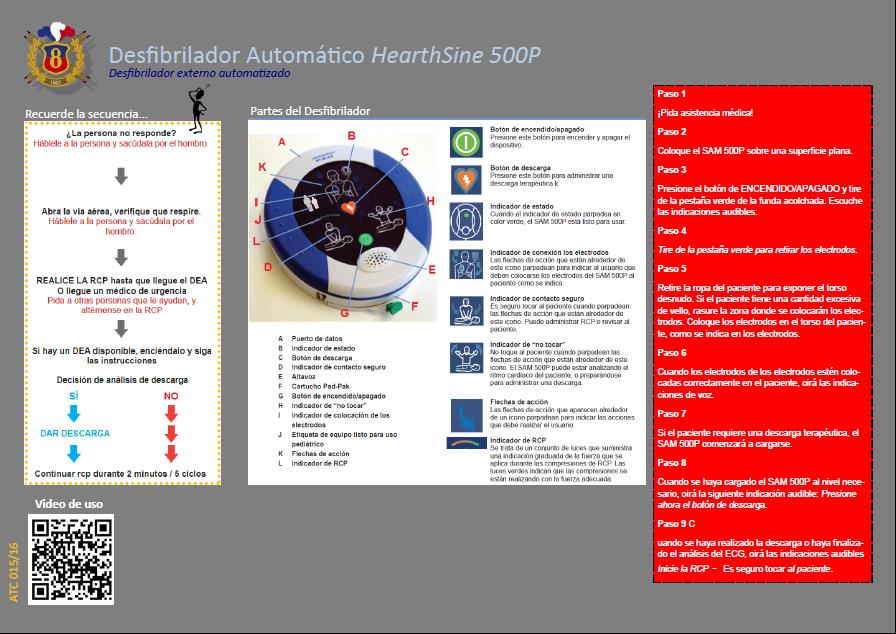 ATC 015 16 Desfibrilador Automático HearthSine 500P